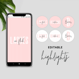 DIY Instagram Highlights Template