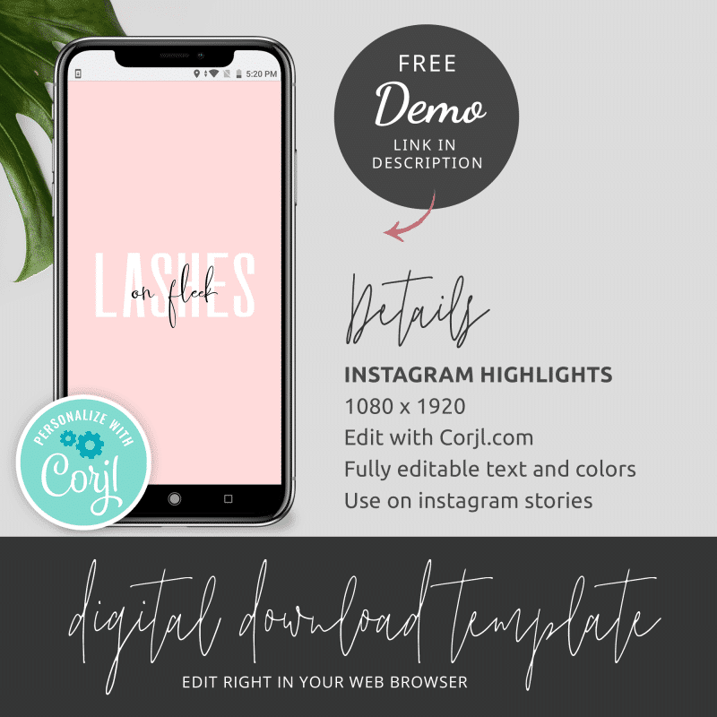 Pink IG Highlight Covers