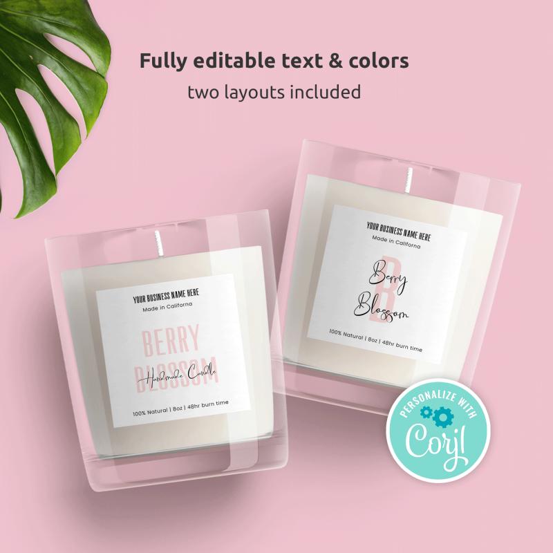 Editable Jar Label Templates