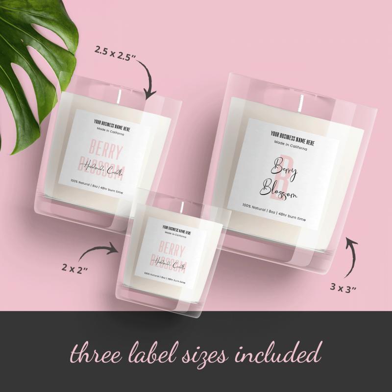 minimalist labels design