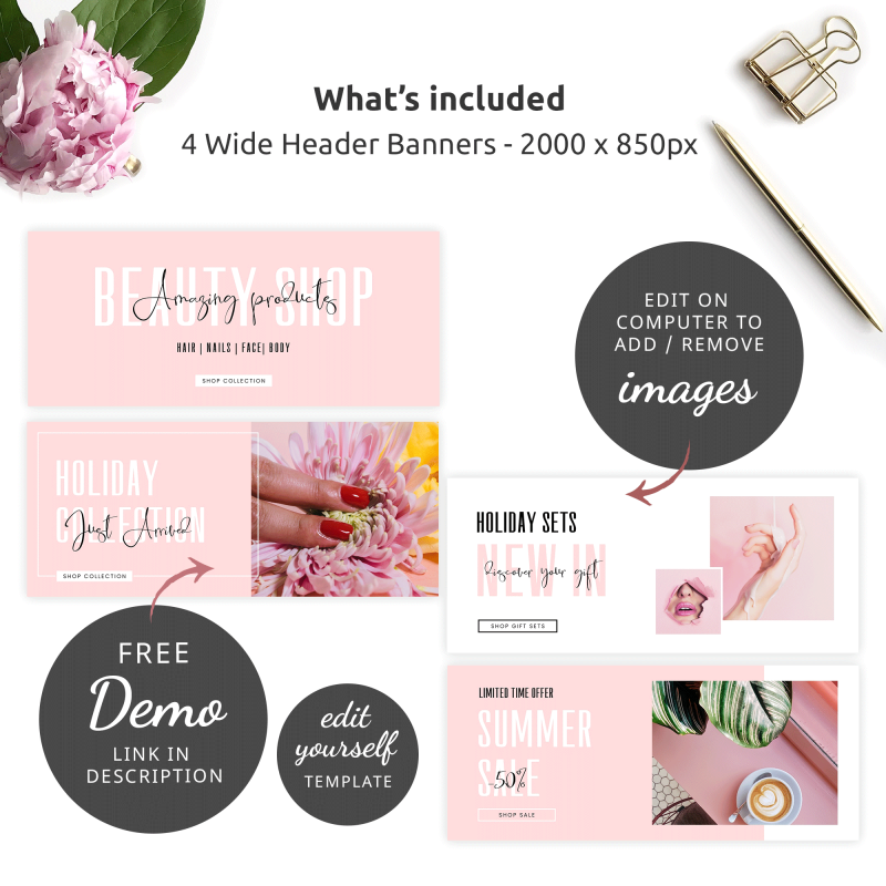 website header banner templates