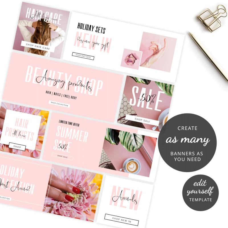 editable website branding kit