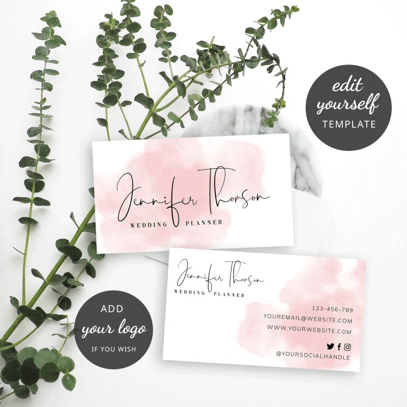 feminine business cards