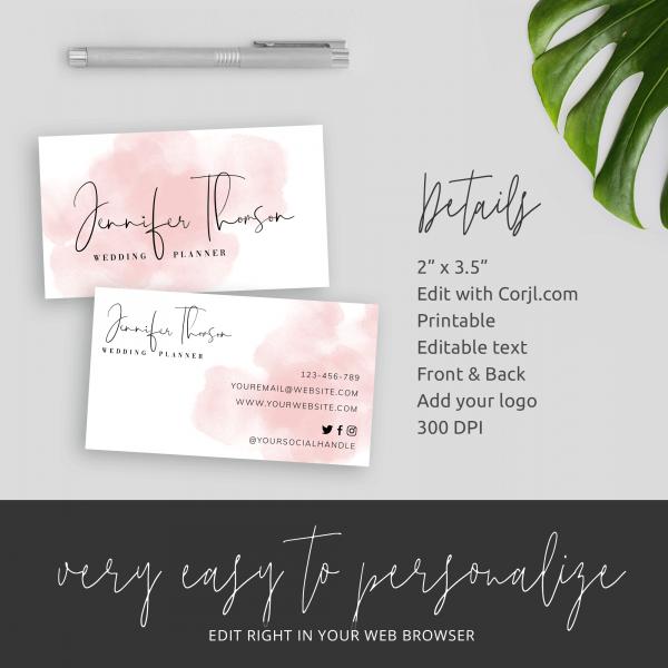 custom company card template