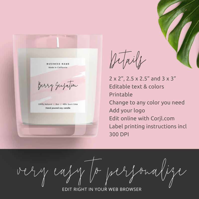 feminine product label design