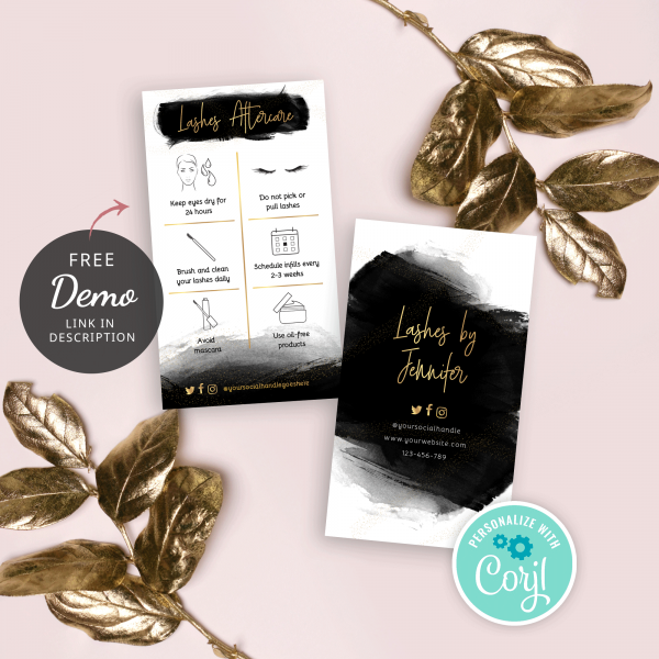 Lash Extensions Aftercare Template