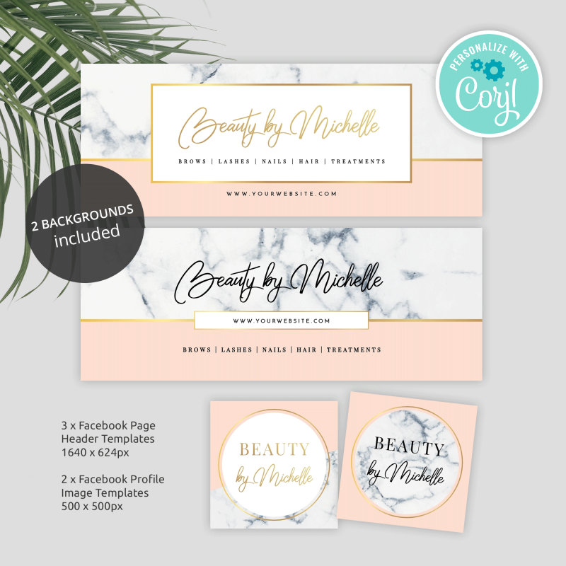 marble and gold facebook banners