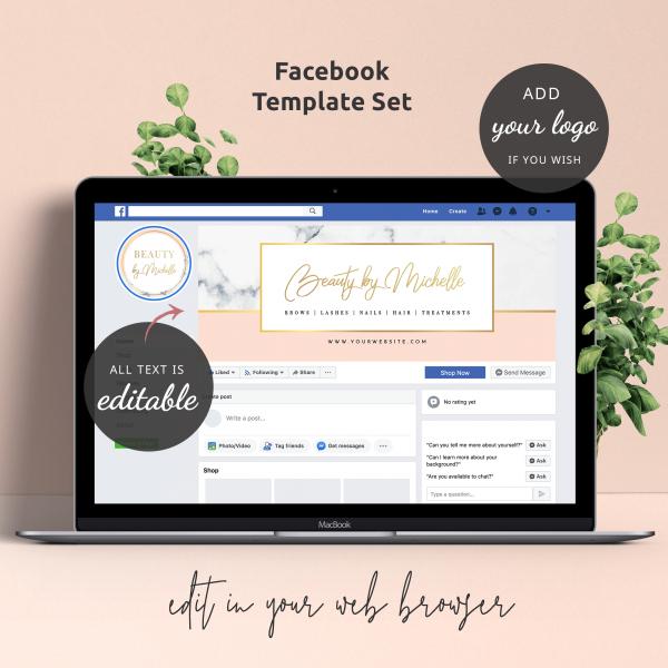 beauty facebook templates