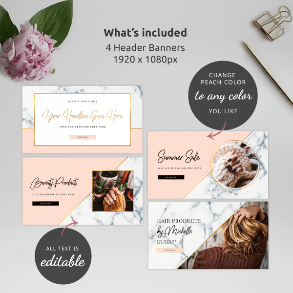 editable website cover templates