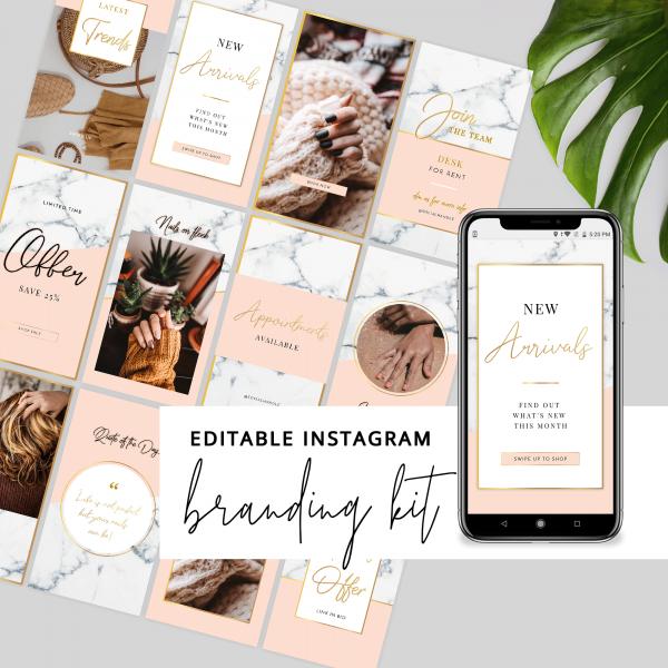 editable Instagram branding set