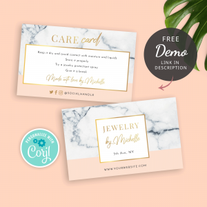 Beauty Care Card Template