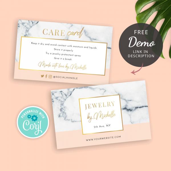 Beauty Care Card Template