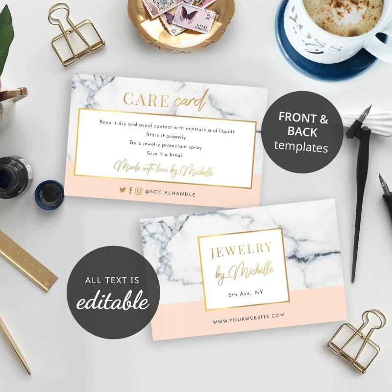 marble care card design
