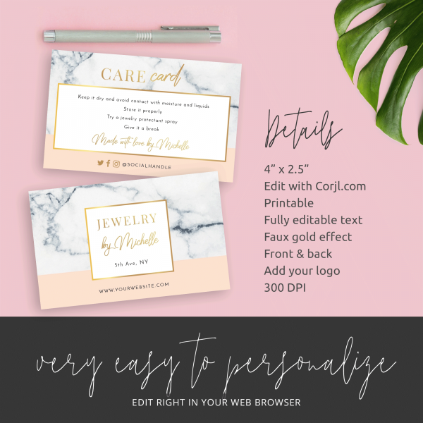 feminine care cards templates