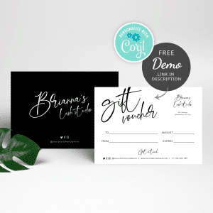 black and white gift voucher templates