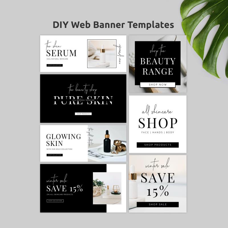 minimalist website banner