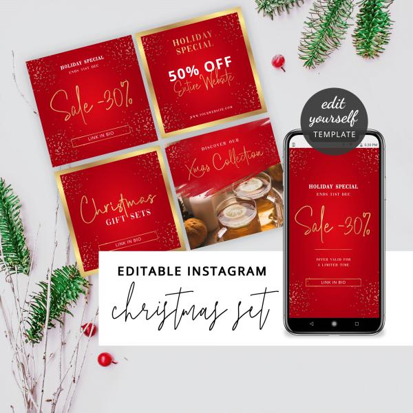christmas instagram marketing templates