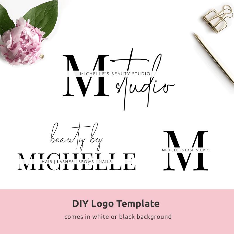 minimalist beauty logo template