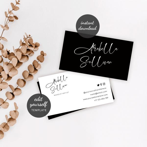 minimalist design business card template