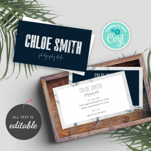 marble text business card template