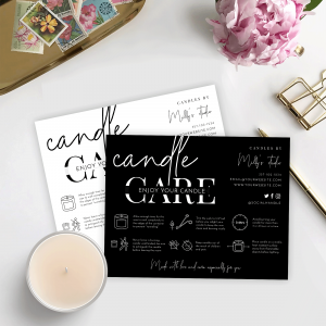 minimalist candle care guide template