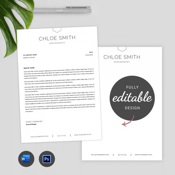 minimalist company letterhead
