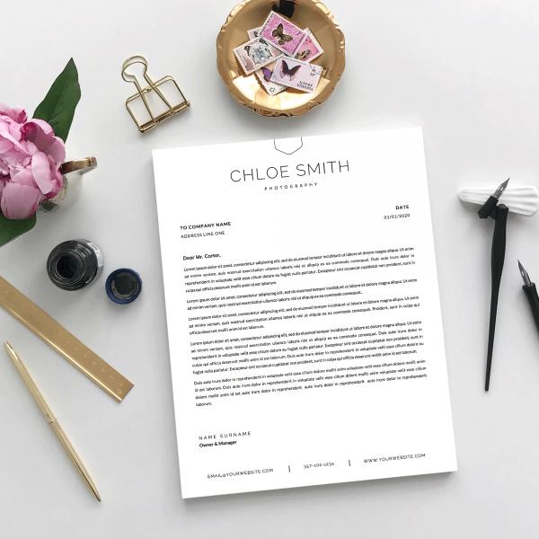 custom company letter design