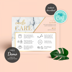 candle safety card template