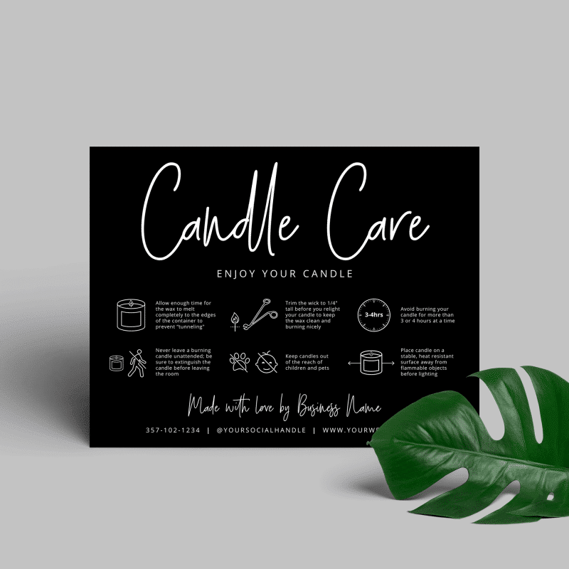 Candle Warning Card Template
