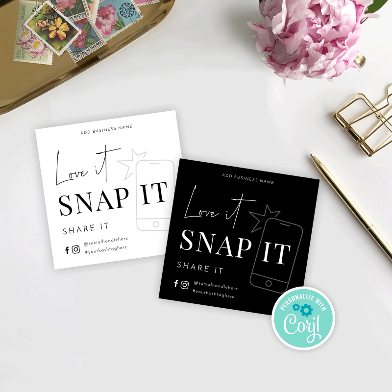 Snap and Share Card Template