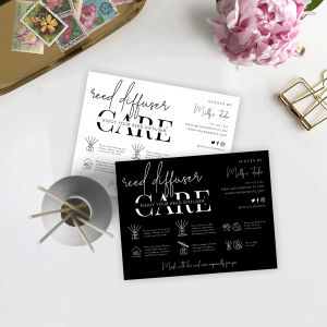 reed diffuser care card template