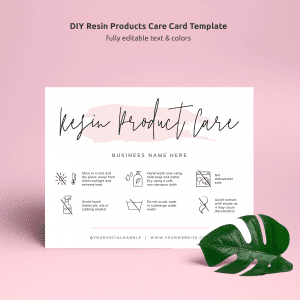 resin product care card