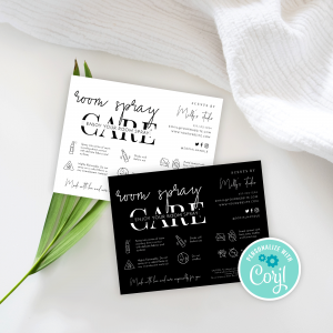 Room Spray Care Card