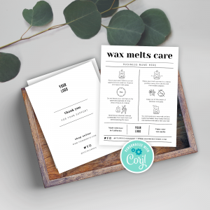 Wax Melts Safety Card Template