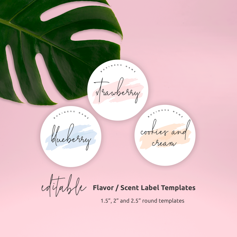 Editable Flavor Name Labels Template