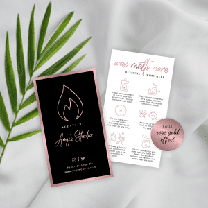 rose gold wax melts safety instructions template