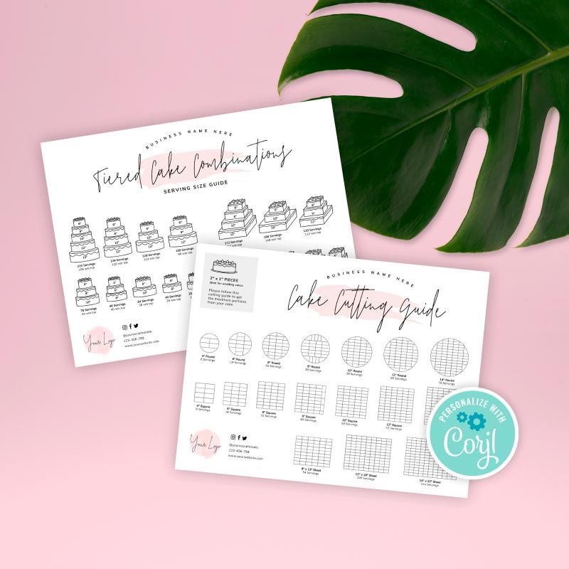 Printable Cake Cutting Guides