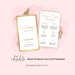 faux gold resin art care instructions template