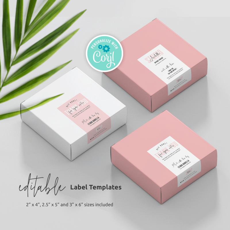 Editable Box Seal Label