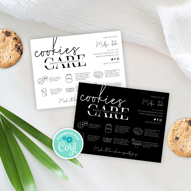 Cookies care note template