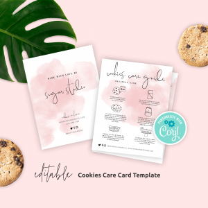 Editable Cookies Care Guide