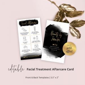 Facial Care Card Template