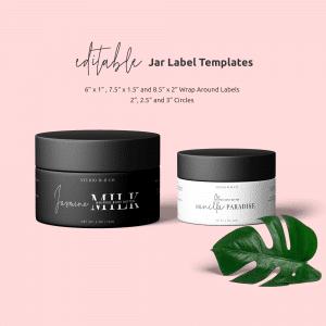 Cosmetics Jar Label Template