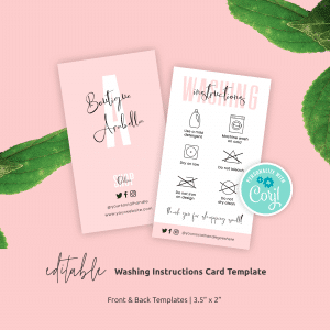 Washing Care Guide Template