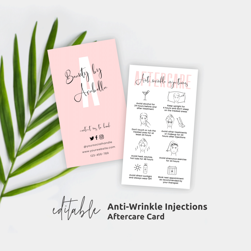 Anti wrinkle injections aftercare