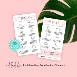 body contouring care card template