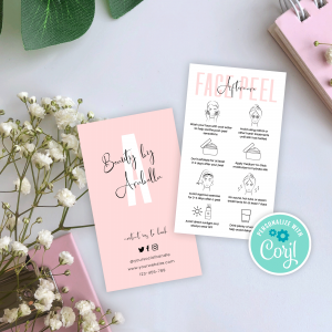Face Peel Aftercare Card Template
