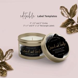 Customizable Tin Labels Template