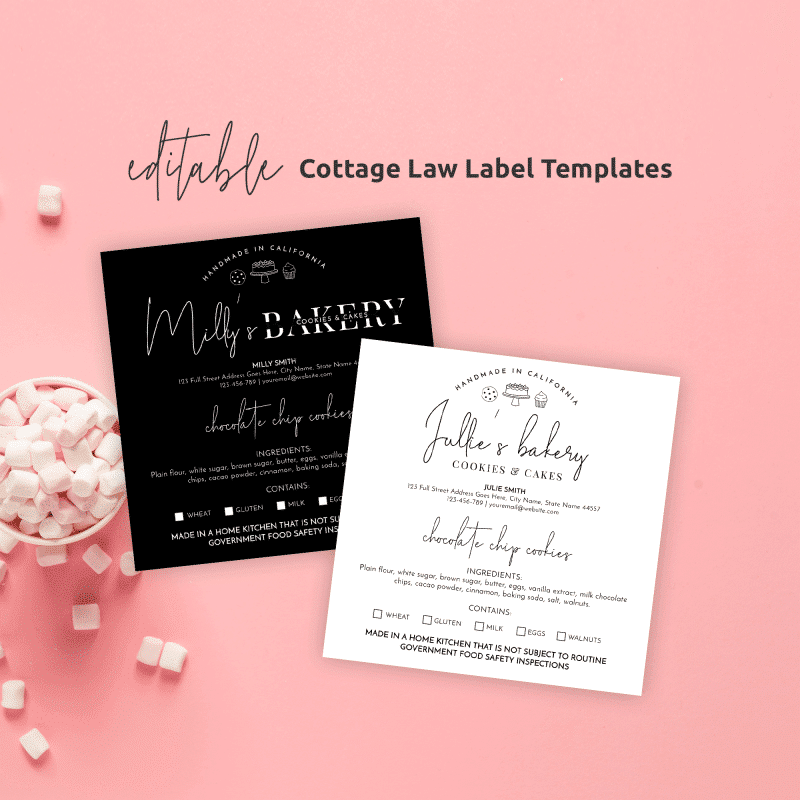 Cottage Law Label Template