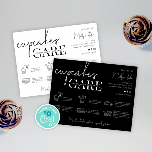 Cupcakes care guide template